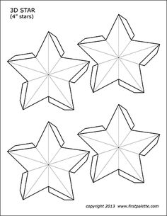 Free printable templates for making three-dimensional five