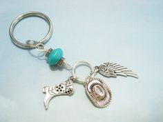 Beaded country western keychain with 3D by AlwaysPrettyThings