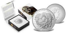 Wół piżmowy - oficjalna 100-dolarowa srebrna moneta oraz pudełko