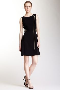 Front Zip Structured Dress on HauteLook