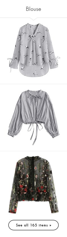 """""""Blouse"""" by zaful ❤ liked on Polyvore featuring tops, blouses, striped blouse, v neck tops, stripe blouse, stripe top, striped top, cut-out shoulder tops, cutout tops and cut out blouse"""