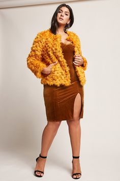 dfd69a1cb04cf Product Name Plus Size SHACI Faux Fur Jacket