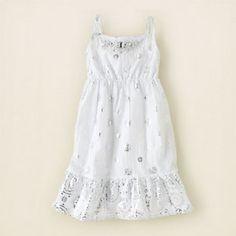 white medallion foil dress $24.95
