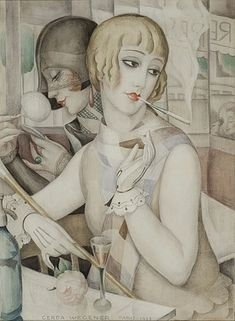 We first wrote about the Art Nouveau/Art Deco works of early century artist Gerda Wegener back in 2013 (and much of her life and rela. Arte Art Deco, Moda Art Deco, Estilo Art Deco, Art And Illustration, Vintage Illustrations, Fashion Illustrations, Art Deco Posters, Vintage Posters, Vintage Art