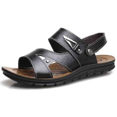 Cheap slippers men, Buy Quality slippers men outdoor directly from China slippers sandals Suppliers: 2017 Summer Beach Shoes Casual Cool Shoes Men Leather Sandals Men's Sandals Outdoor Male Toe Loafer Men's Summer Sandals slipper Sandals 2018, Men's Sandals, Summer Sandals, Leather Sandals, Shoes Men, Men's Shoes, Beach Shoes, Mens Slippers, 2017 Summer