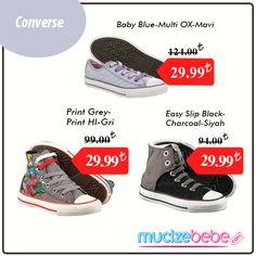 Amerikan spor markası Converse, lastik ayakkabı modasını yaratarak kadın, erkek ve çocuk ayakkabı modelleri ile tüm zamanların ikonik markası haline geldi ve Converse All Star ile Converse One Star modelleri ile tüm dünyanın aklını çelmeye devam ediyor. Şimdi Converse Kids mucizebebe'de sizlerle...