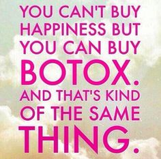 A little Tuesday humor to get you through the day! All new clients receive 20% off Botox administered by our on-site physician, Dr. Matt Jones - which is another something to smile about! #botox #happiness #southernglown