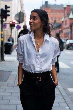 Shirt, White shirt, street style, Veckorevyn, Less Designs, high waist pant…