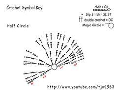 Crochet Geek : Half Circle - Double Crochet - EarFlaps for Hat