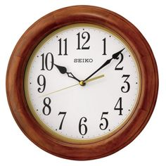 Seiko Light Brown Wall Clock - 11.5 diam. In. - QXA522BLH