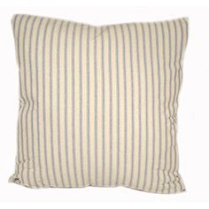 Dress up your home decor with elegant throw pillows  Decorative accessory looks great on your couch  Each striped pillow measures 16 inches square