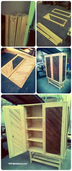 How to Build Pallet Cabinet for Storage | 101 Pallet Ideas
