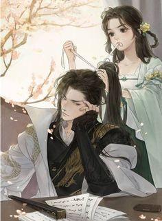 Anime Couples Drawings, Anime Couples Manga, Couple Drawings, Cute Couple Art, Anime Love Couple, Anime Art Girl, Manga Art, Cute Anime Coupes, Chinese Drawings