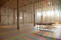 This promotional exhibition 'mt ex' has been held all over the world and this time, it was held in Sendai, Japan. Masking tapes are usually used as. Masking Tape, Washi Tape, Mt Tape, Top Stories Today, Temporary Architecture, Sendai, Opening Day, Installation Art, Art Installations
