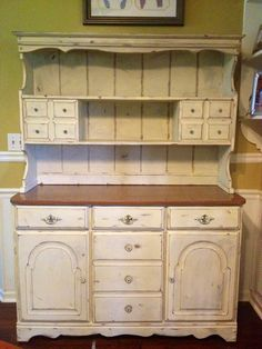 Just finished distressing my Hutch with Annie Sloan paint!