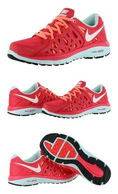 $80 - Nike Women's Wmns Dual Fusion Run 2  FUSION RED/SUMMIT WHITE/ATOMIC PINK/TEAL TINT #shoes #nike #2013