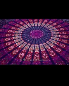 Bubblegum Queen size Mandala Throw by Larimaranddaisy on Etsy