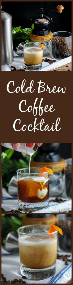 Cold Brew Coffee Cocktail - cold brew coffee, bourbon, triple sec, cream, maple syrup #ad #sponsored drink, iced, recipe, easy, craft cocktails, craft cocktail recipes, craft cocktails bartender, craft cocktails & mixology, coffee break, bourbon drinks, bourbon cocktails, bourbon whiskey