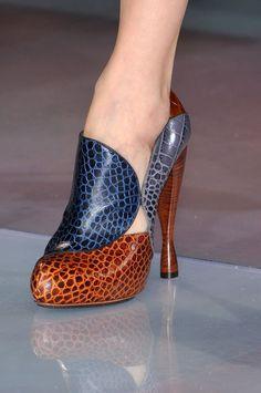 Emporio Armani at Milan Fashion Week Fall 2010 - Details Runway Photos Fab  Shoes bf36d73e2f01