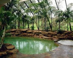 Enclosed natural pool