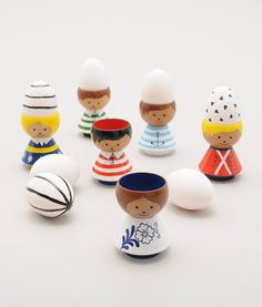BORDFOLK EGG CUP HOLDERS BY LUCIE KAAS