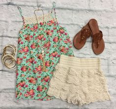 In the Park Floral Tank Top from privityboutique