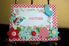 Mother's Day is looming- and after making the Mini-Clipboard for my gift idea, of course I needed a card to match. Luckily, I have my Elmer's adhesives and X-Acto tools on hand to make crafting my card a snap.