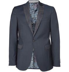 ETRO paisley lapel dinner suit jacket.