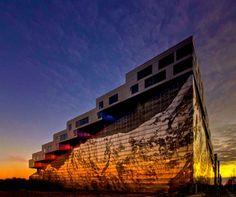 Bjarke Ingels Mountain Dwellings in Copenhagen..  Magnificent work of design and art..