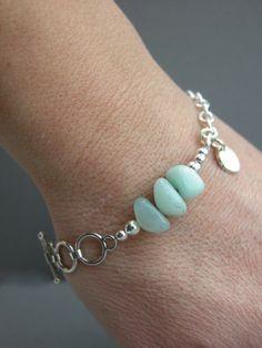 Amazonite bracelet by KristinJames on Etsy, $34.00