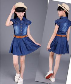 2017 Lastest Design Fashion Kids Denim Dress Polo Collar Single-breasted Girl Party Dress Children Frocks Designs - Buy Fashion Dress,Latest Dress Designs,Baby Girl Party Dress Children Frocks Designs Product on Alibaba.com Baby Girl Party Dresses, Dresses Kids Girl, Kids Outfits Girls, Baby Dress, Girl Outfits, Casual Outfits, Frock Design, Girls Denim Dress, Denim Dresses