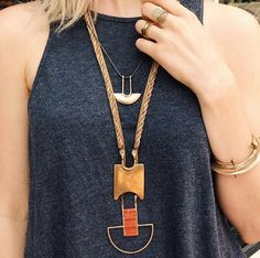 Isis & Osiris  Necklace with a touch of Egyptian style? I like it!