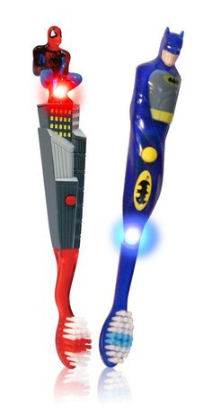 Superhero Firefly toothbrushes for kids