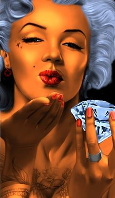Marilyn Monroe - source unknown pixels credit to unknown artist Marilyn Monroe Tattoo, Marilyn Monroe Kunst, Marilyn Monroe Wallpaper, Marilyn Monroe Photos, Og Abel Art, Lowrider Art, Howard Hughes, Chicano Art, Chicano Drawings