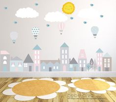 City Wall Decals, Wall Decals Nursery, Baby Wall Decal, Kids Wall Decals, Wall…