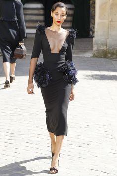 Ulyana Sergeenko Fall 2017 Couture Fashion Show - Lineisy Montero (Next)
