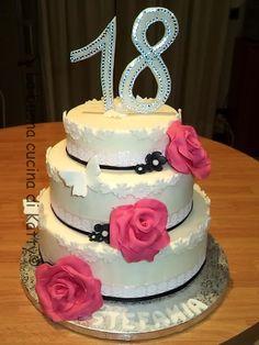 La buona cucina di Katty: Torta chic per i meravigliosi 18 anni - Chic cake for the wonderful 18 years