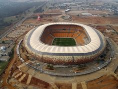 Images Soccer City Stadium in Johannesburg, South Africa Aerial view of the stadium 5525 Soccer City, Soccer Stadium, Football Stadiums, Soccer World, Soccer Fans, Johannesburg City, World Cup Stadiums, Fifa World Cup, Aerial View