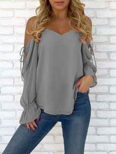 964de8ddd7d6e Shop Spaghetti Strap Open Shoulder Casual Blouse – Discover sexy women  fashion at IVRose