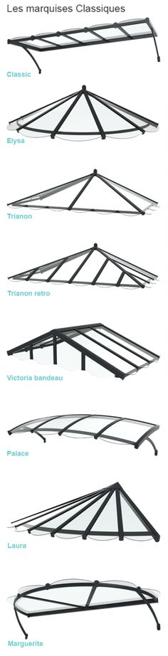 Awnings and canopies contemporary or authentic for houses - BVL Serrulac