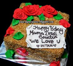 Dapoer Queen: Mocca Nougat cake with Roses figurine (fondant)