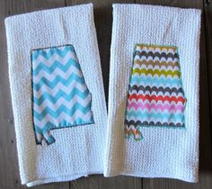 State Shape Kitchen Towel  Texas by ChicADeeEmbroidery on Etsy, $10.00