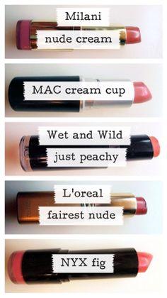 Favorites: Nude Lipsticks