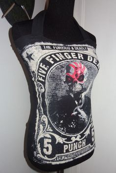 Five Finger Death Punch ladies womens DIY band shirt halter top tank top