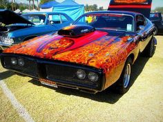 Fire Dodge Charger 1973