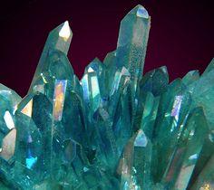 Aqua Aura Quartz Crystals