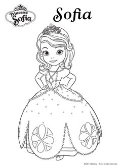 Coloriage Disney La Princesse Sofia - Hugolescargot.com