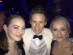 Emma, Eddie and JK Rowling