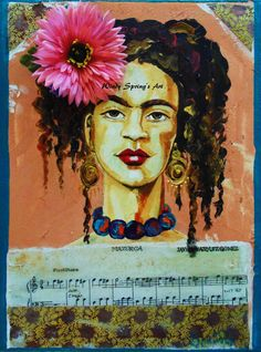 Frida Kahlo Llorona by Spring 12x16 ORIGINAL by windyspringsart, $225.00