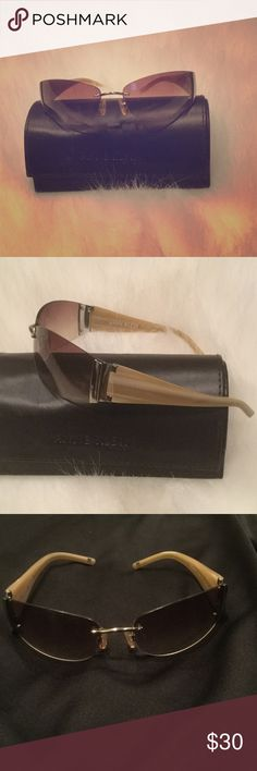 Ann Klein Sunglasses Barely worn super cute sunglasses! These are neutral in color and go with any outfit! Very stylish! You will love these! Ann Klein Accessories Glasses